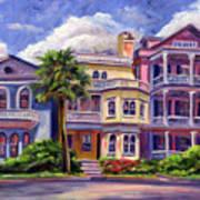 Charleston Houses Art Print