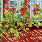 Charleston Window Boxes Art Print