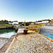Charlestown From The Sea Wall Art Print