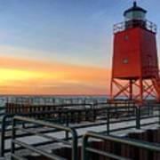 Charlevoix South Pier Lightstation Art Print