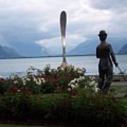 Charlie Chaplain At Geneva Lake Art Print