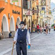 Charlie Chaplin In Innsbruck Art Print