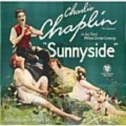 Charlie Chaplin In Sunnyside 1919 Art Print