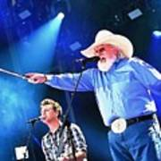 Charlie Daniels On Stage Art Print