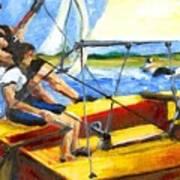 Charlies Race Boat Art Print