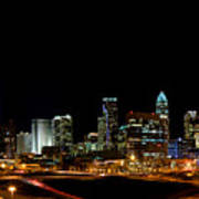 Charlotte Skyline Panoramic Art Print by Patrick Schneider