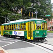 Charlotte Streetcar Line 3 Art Print