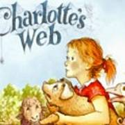 Charlottes Web Art Print by Elizabeth Coats