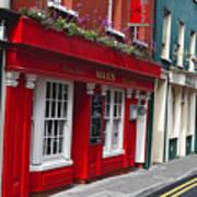Charming Narrow Street In Kinsale Art Print