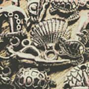 Charming Seashore Symbols Art Print