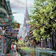Chartres Rain Art Print