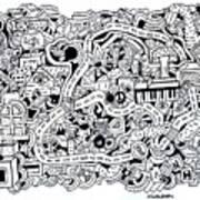 Chasen' Jason Art Print by Chelsea Geldean