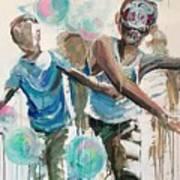Chasing Bubbles Art Print