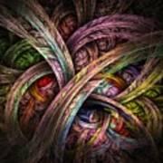 Chasing Colors - Fractal Art Art Print