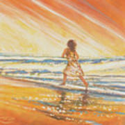 Chasing The Surf Art Print