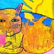 Chat A La Fenetre Art Print