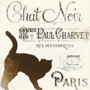 Chat Noir Paris Art Print