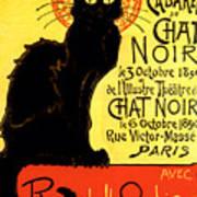 Chat Noir Vintage Art Print