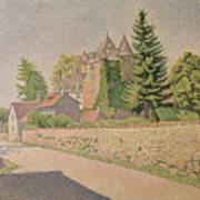 Chateau De Comblat Art Print