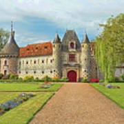 Chateau De Saint-germain-de-livet, Normandy, France Art Print