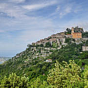 Chateau D'eze On The Road To Monaco Art Print by Allen Sheffield