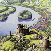 Chateau Gaillard, Also Known As The New Castle Of The Rock  Art Print
