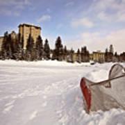 Chateau Lake Louise In Winter In Alberta Canada Art Print