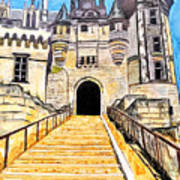 Chateau Saumur, A Long Way Up Art Print