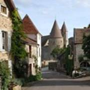 Chateauneuf En Auxois Burgundy France Print by Marilyn Dunlap