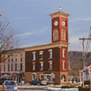 Chatham Clock Tower Art Print by Kenneth Young