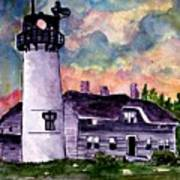 Chatham Lighthouse Martha's Vineyard Massachuestts Cape Cod Art Art Print