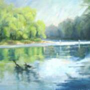 Chattahoochee River- Trout Fishing Art Print