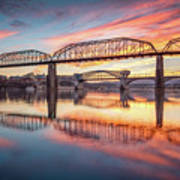Chattanooga Sunset 5 Art Print