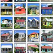 Chattel Houses Of Barbados Art Print