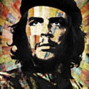 Che Guevara Revolution Gold Art Print