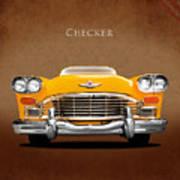 Checker Cab Art Print