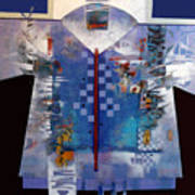 Checkered Kimono Art Print