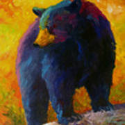 Checking The Smorg - Black Bear Art Print
