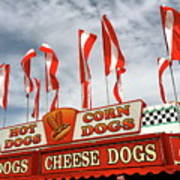 Cheese Dogs Galore Art Print