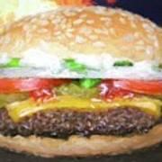 Cheeseburger Deluxe Art Print