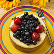 Cheesecake With Fruit Art Print