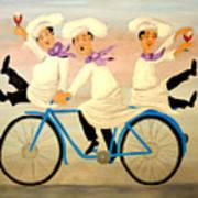Chefs On A Bike Art Print