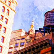 Chelsea Water Tower Art Print
