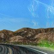 Chem Trails Valley Of Fire  Art Print