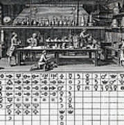 Chemical Lab With Proto-periodic Table Art Print