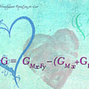 Chemical Thermodynamic Equation For Love Art Print