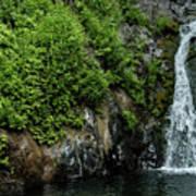 Chemisal Falls At Vichy Springs In Ukiah In Mendocino County, California Art Print
