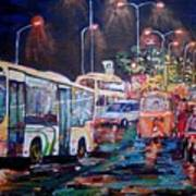 Chennai Traffic Art Print
