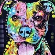 Cherish The Pitbull Print by Dean Russo