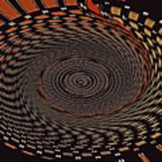 Cherry Basket Weaving Abstract Art Print